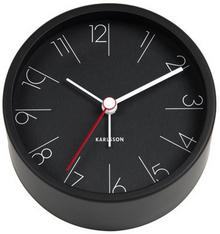 Karlsson Budzik Elegant Numbers steel black by KA5648BK