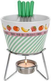 Excellent Houseware EH Ceramiczny zestaw do czekoladowego fondue dla 4 osób 8718158648020-zielony