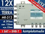 Terra 12-wyjściowy 5/12 multiswitch MR-512 Centrale multimedialne RTV SAT LAN CCTV