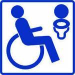 Pn. AS032 Piktogram Toaleta dla inwalidy