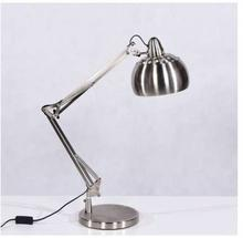 Lumina Stojąca LAMPKA biurkowa RIGORRIA LDT 8815 3 SL Deco metalowa LAMPA regulowana srebrny