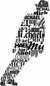 Szabloneria Sylwetki Michael Jackson - naklejka dekoracyjna