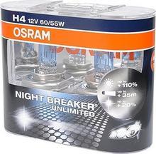 OSRAM Żarówki Night Breaker Unlimited H4 12V 60/55W (2 szt.)
