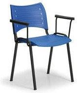 B2B Partner Plastikowe krzesła SMART - czarne nogi z podłokietnikami 150151