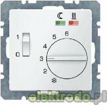 Regulator temperatury podogi ze stykiem rozwiernym, elementem centralnym, czniki