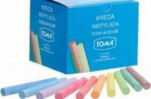 TOMA Kreda szkolna kolorowa 100 szt OM-80201