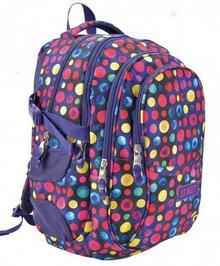 St. Majewski Plecak szkolny St Reet Dots Purple&Yellow 950 g)