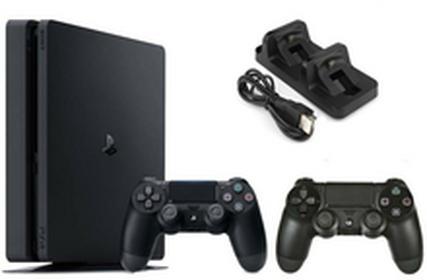 SonyPlayStation 4 Slim 500GB Czarny + Kontrolel DualShock 4 + Akcesoria