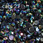 Ozdoby do paznocki akrylowe minikuleczki opalizujące AB cam27 czarne