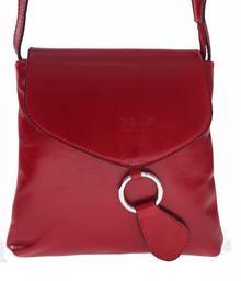 Genuine Leather Włoska listonoszka skórzana Czerwona (kolory) 6021cze