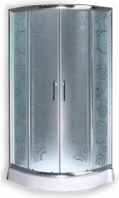 Durasan Parma Wave NK 90 90x90 szkło jasne wzór fala + brodzik + syfon