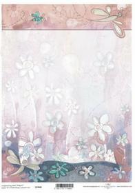 ITD Papier do scrapbookingu 250g A4 - 004 kwiaty