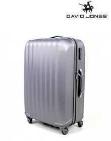 David Jones Walizka na kółkach srebrny - duża 76,5 l