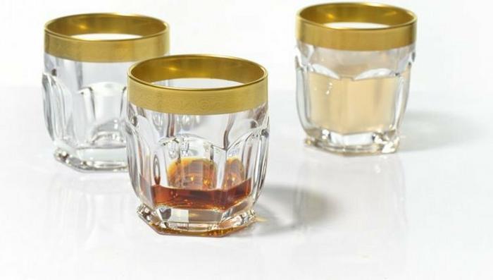 Bohemia Szklanki do whisky Safari Gold Crystalite