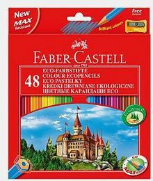 Faber-Castell Kredki 48 kolorów z temperówką Zamek