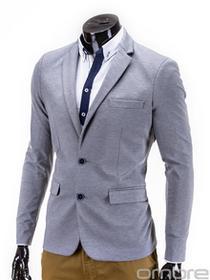Ombre Clothing Marynarka M53 - SZARA