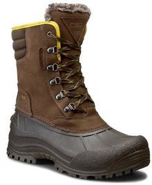 CMP śniegowce Kinos Snow Boots Wp 3Q48867 Chocolate Q935 tworzywo/-wysokogatunkowe tworzywo, materiał/-materiał, skóra naturalna/nubuk