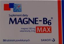 Sanofi Aventis MAGNE-B6 MAX 50 szt.