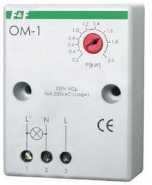 F&F Ogranicznik poboru mocy natynkowy 16A 230V 200-2000W 30 sek OM-1