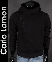 Carlo Lamon Czarna młodzieżowa bluza męska - Czarny