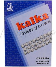Delfin KAKADO/ Kalka maszynowa A4 czarna (50) KD1001