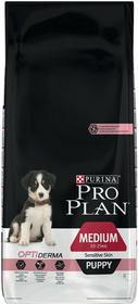 Purina Pro Plan Medium Puppy Sensitive Skin Optiderma łosoś i ryż 12kg