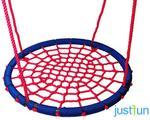 Just Fun huśtawka BOCIANIE GNIAZDO LUX 120 cm - niebiesko-czerwone 2PR05-06B3.37