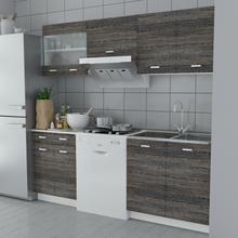 vidaXL vidaXL Zestaw szafek kuchennych 5 sztuk w kolorze wenge 200 cm