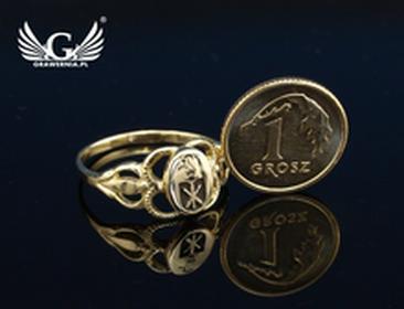 GRAWERNIA.PL Usługa grawerowania logo/grafiki na sygnetach - sygnet z Twoim logo