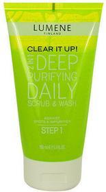 Lumene Clear It Up! Deep Purifying Daily Scrub & Wash 150ml W Peeling do skóry tłustej