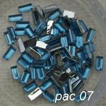 Ozdoby do paznocki akrylowe prostokąty pac07 błękit