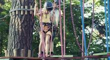 Park linowy dla dziecka - przygoda na wysokości - Międzybrodzie Żywieckie
