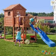 Fungoo Ogrodowy domek ze zjeżdżalnią dla dzieci MY HOUSE 01075