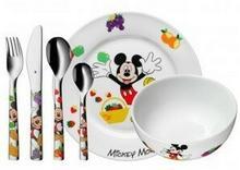 WMF Sztućce i naczynia dziecięce Mickey Mouse 6 szt. 12.8295.9964
