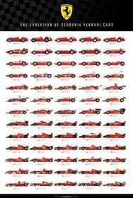 Ferrari F1 Bolid Ewolucja Scuderia Cars Plakat