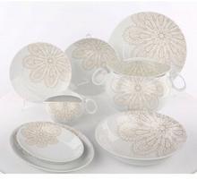 Ćmielów Zestaw obiadowy dla 12 osób porcelana  Quebec Koronka G205   Darmowa dostawa