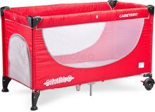 Caretero Simplo Red New łóżeczko turystyczne