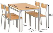Halmar Stół kuchenny Malcolm + 4 krzesła buk