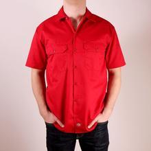 Dickies Koszula 1574 Short Sleeve Work Shirt - English czerwony