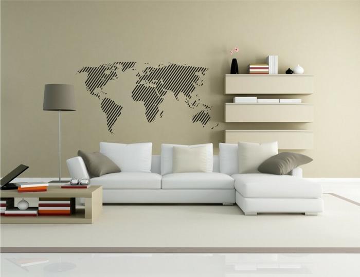 Naklej-to.pl Mapa świata 8 naklejka na ścianę mapaswiata08
