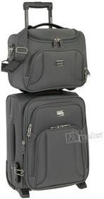Dielle JoeB 9913 mała walizka kabinowa + kuferek / kosmetyczka 9913/WIZZ Anthracite, 9913/B Anthracite