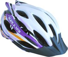 Kellys Kask rowerowy DYNAMIC white-purple