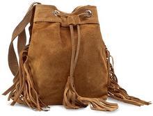 Creole Torebka - RBI10134 brązowy zamsz mini torebka (nie mieszcząca A4)