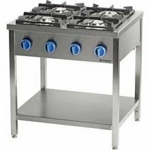 Stalgast Kuchnia gazowa wolnostojąca 900 - 4 palnikowa z półką 36kw - g30 999553