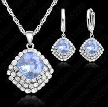 Durango Komplet z kolczykami , kryształ niebieski 5013