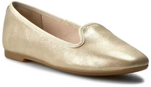 Clarks Lordsy Chia Milly 261238344 Champagne skóra naturalna/licowa