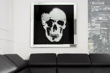 Interior Obraz na szkle Glam Skull 100x100