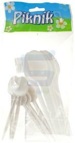 Piknik Łyżki plastikowe 6 szt. + łyżeczki plastikowe 6 szt.