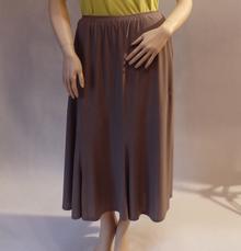 MaximoModa Długa spódnica rozszerzana ciemny beż XXXL JU0003BZ
