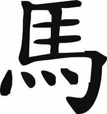 Naklejka chiński zodiak Koń